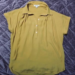 NWOT**Madewell Central Shirt in Tungsten Glow